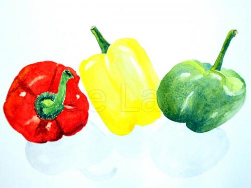 A Traffic Light of Peppers